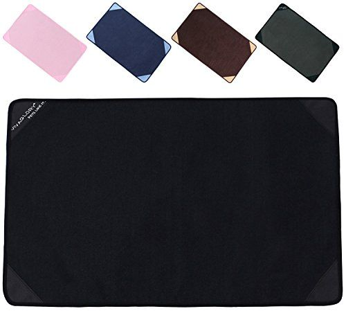 Vivaglory Cat Litter Mat Litter Box Mat Pad for Pet Bed  Cat Scratchers Black Large *** You can find out more details at the affiliate link of the image.