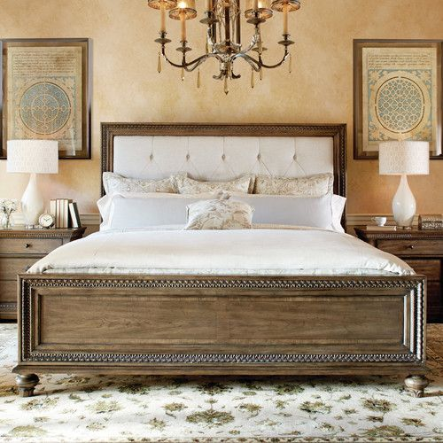 Found It At Wayfair Renaissance Upholstered Panel Bed Wood And Upholstered Bed Upholstered Panel Bed Classic Furniture Wood headboard and footboard sets