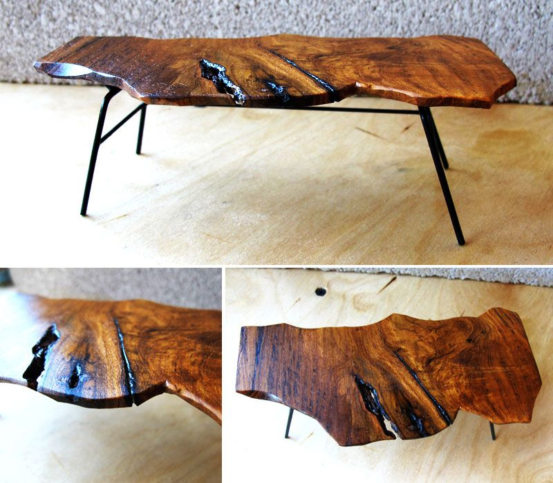 Micro Slab Furniture Coffee Table Wood Natural Wood Coffee Table Raw Wood Furniture