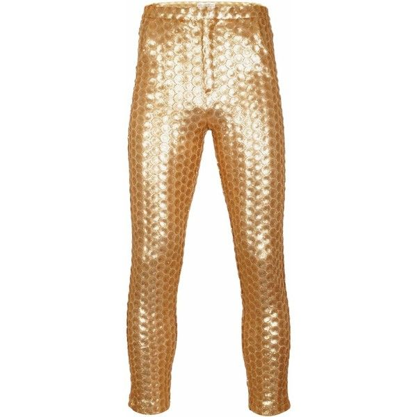 8142f4a73ba87 JIRI KALFAR - Gold Sequin Trousers ($415) ❤ liked on Polyvore featuring  men's fashion, men's clothing, men's pants, men's casual pants, mens gold  pants and ...