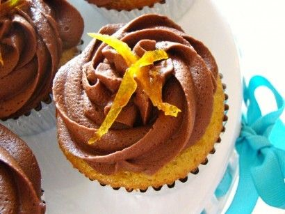 Fresh Orange Cupcakes with Double Chocolate Frosting
