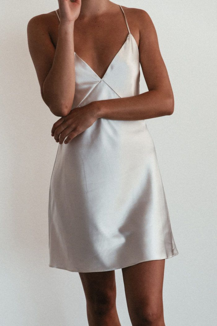 Silky Satin Mini Moonshine | Mini Dress | Grace Loves Lace