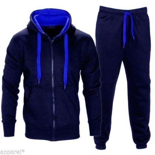 Range Men/'s Athletic Running Jogging Gym Zip Casual Hooded Sweat Track Suit Set
