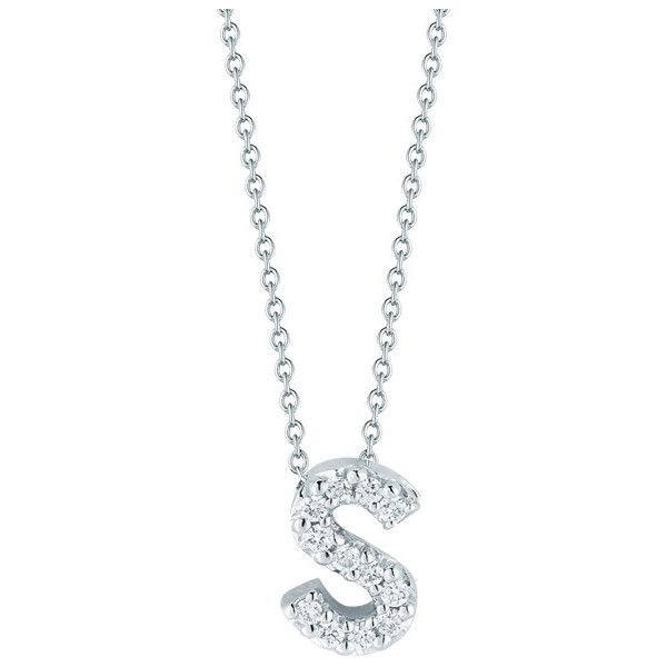 Roberto coin initial thoughts white gold diamond initial s necklace roberto coin initial thoughts white gold diamond initial s necklace 580 liked on mozeypictures Choice Image