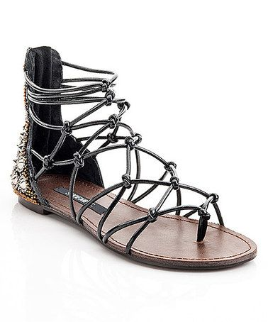 Another great find on #zulily! Black Susan Gladiator Sandal #zulilyfinds