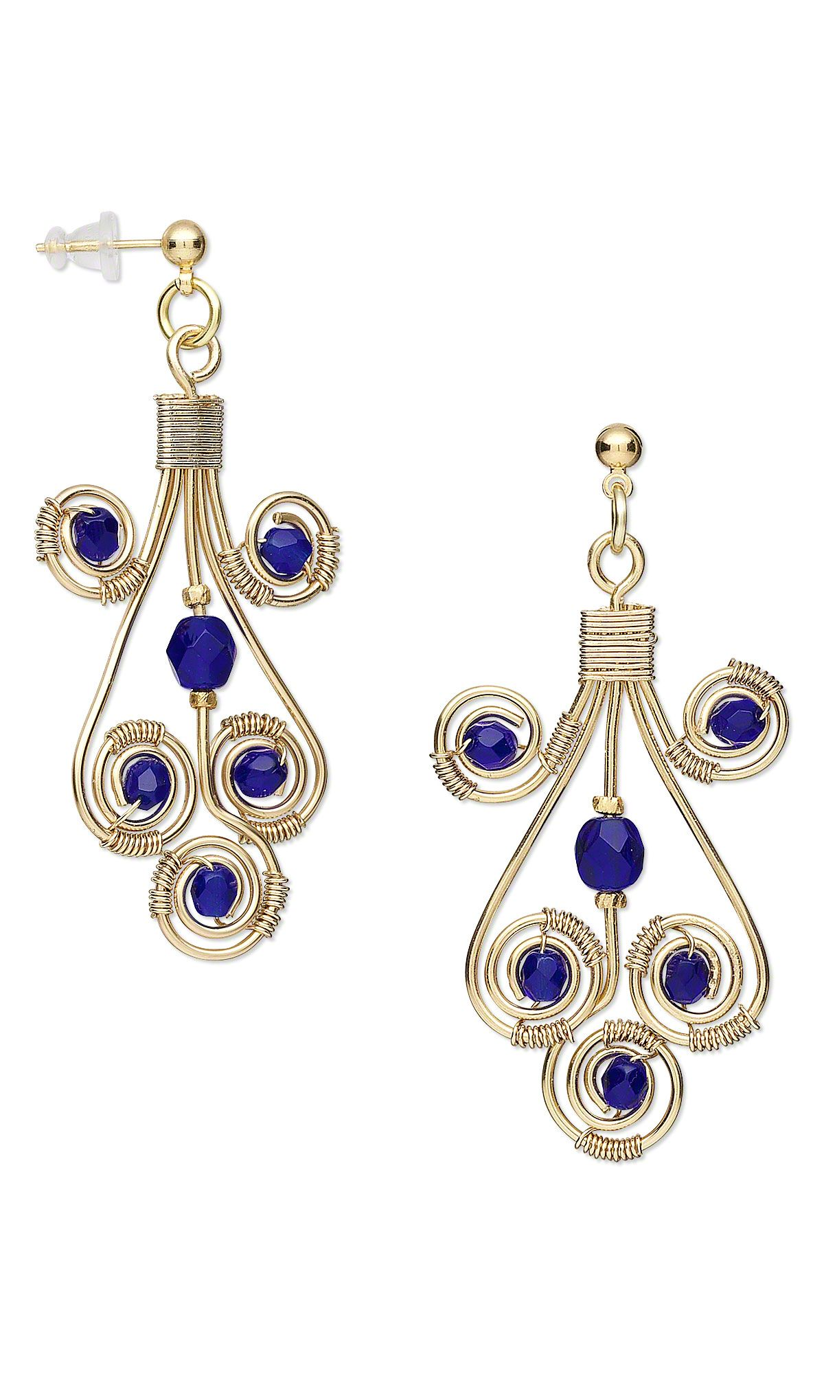 Earrings with Czech Fire-Polished Glass Beads and Wirework Gallery Of Designs - Fire Mountain Gems and Beads