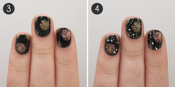 Fireworks Nail Art - Light Up The Night With These Fireworks Nails Firework Nails