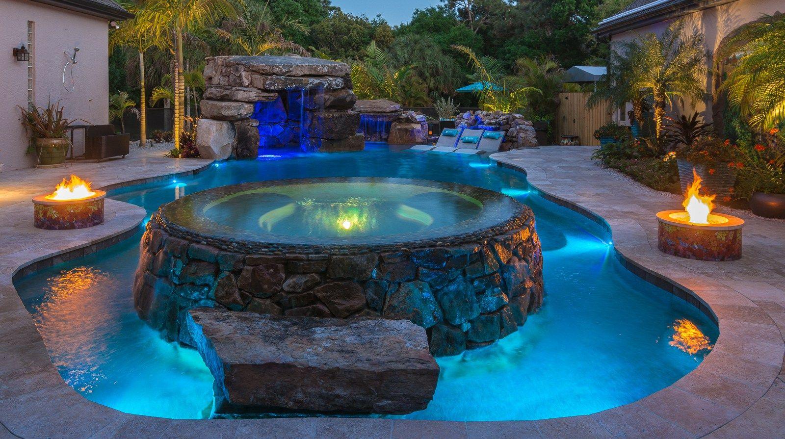 Fiesta De Laguna Lucas Lagoons Indoor Outdoor Pool Backyard Pool Designs Amazing Swimming Pools