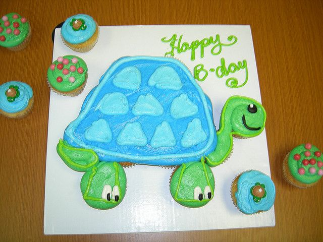 Turtle cupcake cake Turtle Cake and Pull apart
