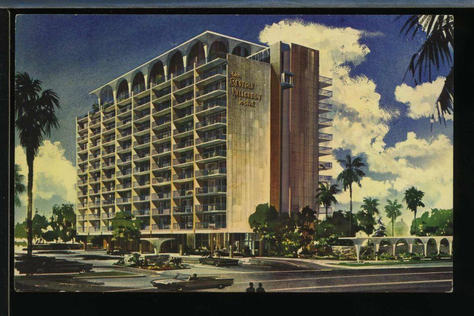 The Beverly Hillcrest Hotel Via Maria Mancini From Vintage Los Angeles Hollywood Los Angeles History Vintage Los Angeles Los Angeles Hollywood