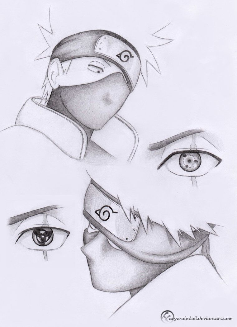 Hatake Kakashi Pencil By Arya Aiedail On Deviantart With Images