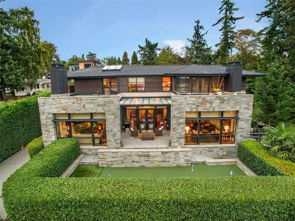 Contemporary In Bellevue Washington 9632 Lake Washington Boulevard Ne Bellevue Wa 98004 Page 1 Modern House Exterior House Styles Facade House
