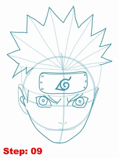 Drawing naruto tutorial step 9