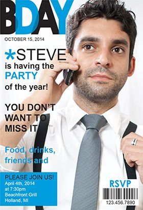 mens party magazine cover