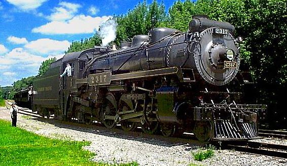 "CPR (Canidian Pacific Railway) 2317, a G-3-c 4-6-2 ""Pacific"" locomotive"