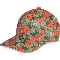 Photo of Gg Baseballkappe mit Gucci Strawberry-Print Gucci