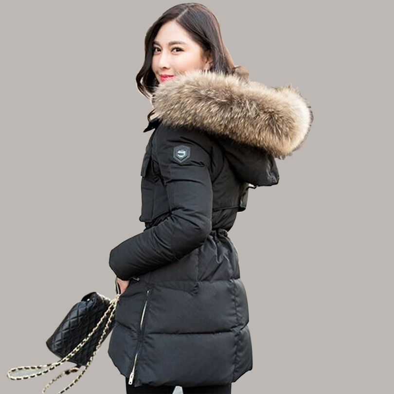 TOP Quality Large Real Fur 2016 Winter Jacket Women Real Natural ...