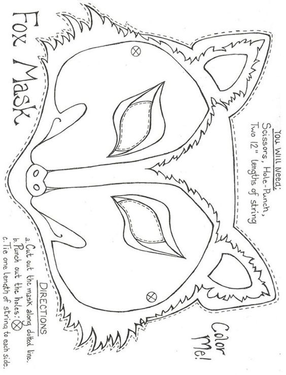 Idea By Gigi On Art Fox Mask Mask For Kids Felt Animal Masks