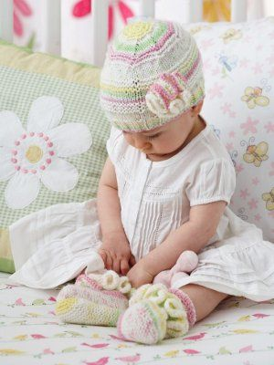Frilly Baby Set | Kindermütze stricken, Kindermütze und Stricken