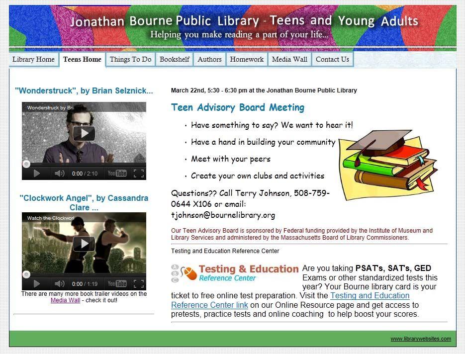 Teen Library Websites | Inspirational library | Pinterest | Teen ...