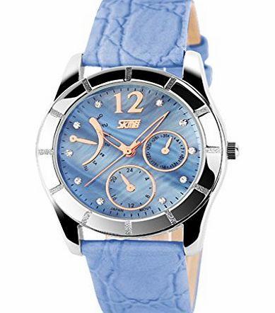 SKMEI Girls Quartz Dress Diamond Watch Women Leather Strap Watch - Blue No description (Barcode EAN = 0889119315218). http://www.comparestoreprices.co.uk/ladies-watches/skmei-girls-quartz-dress-diamond-watch-women-leather-strap-watch--blue.asp