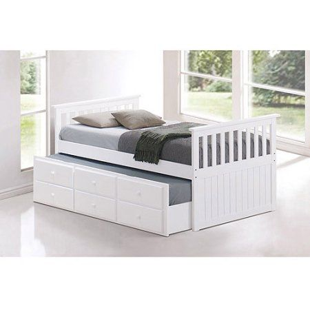 Broyhill Kids Marco Island Twin Captain;s Bed with Trundle Bed and