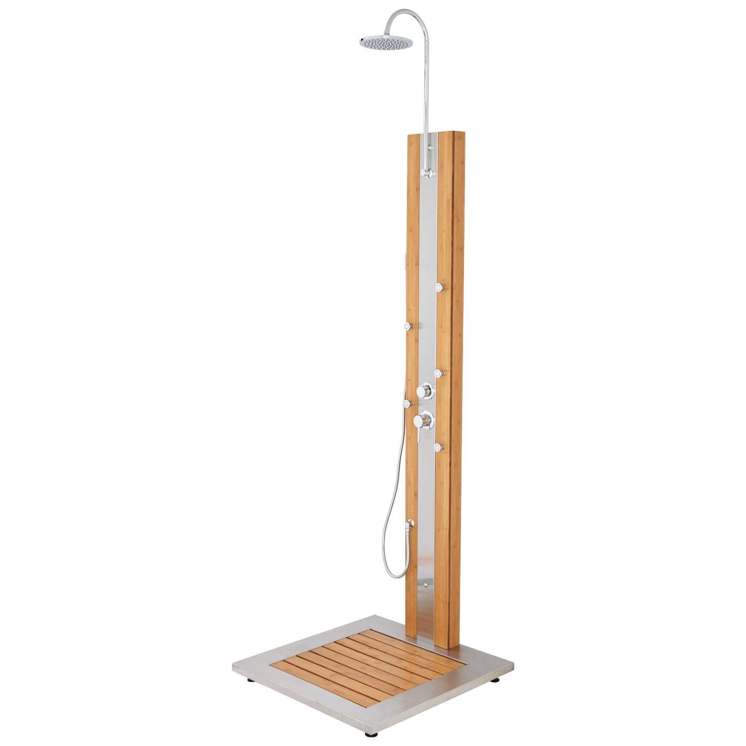 Newman Outdoor Bamboo Shower Panel and Tray | Bathroom Vanities ...