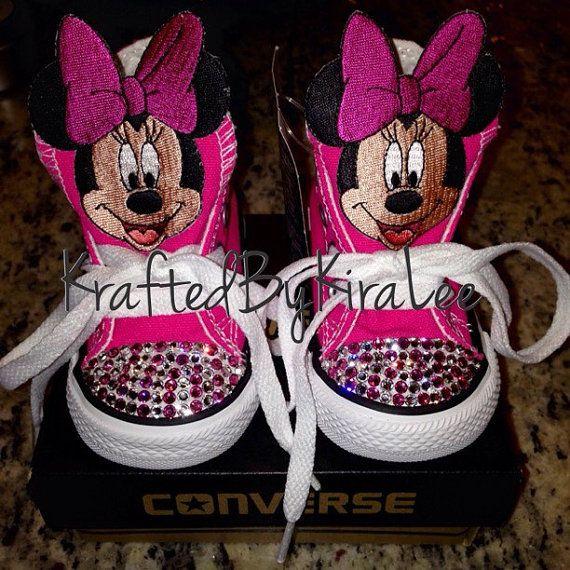Custom Minnie Mouse Converse Swarovski crystals | Etsy | Converse ...