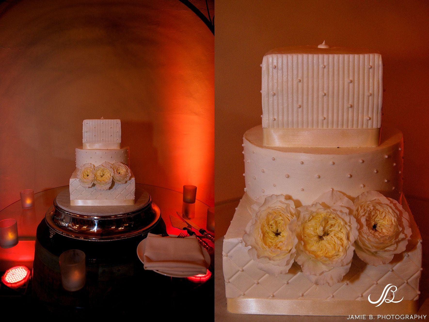 Wedding Cake Barrel Room Amber Ponte Winery Temecula
