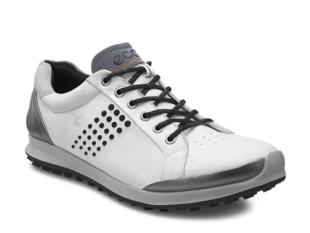 Ecco Mens Biom Hybrid 2 White Black Golf Shoes Mens Golf Shoes Womens Golf Shoes