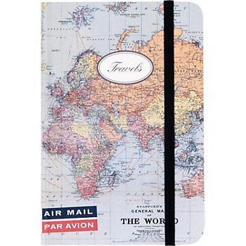 Cavallini world map journal 12 notebookpaperscrapbook wish list cavallini world map journal 12 gumiabroncs Choice Image