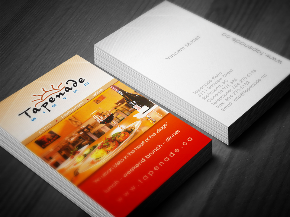 Business card design for restaurant in steveston bc business business card design for restaurant in steveston bc business card design pinterest tapenade business cards and business reheart Images