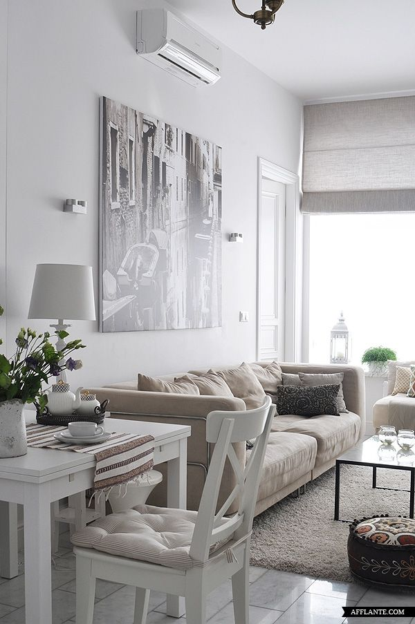 Apartamento Decorado 56m2 De Elegância E Tons Neutros Small Living Rooms Home Room