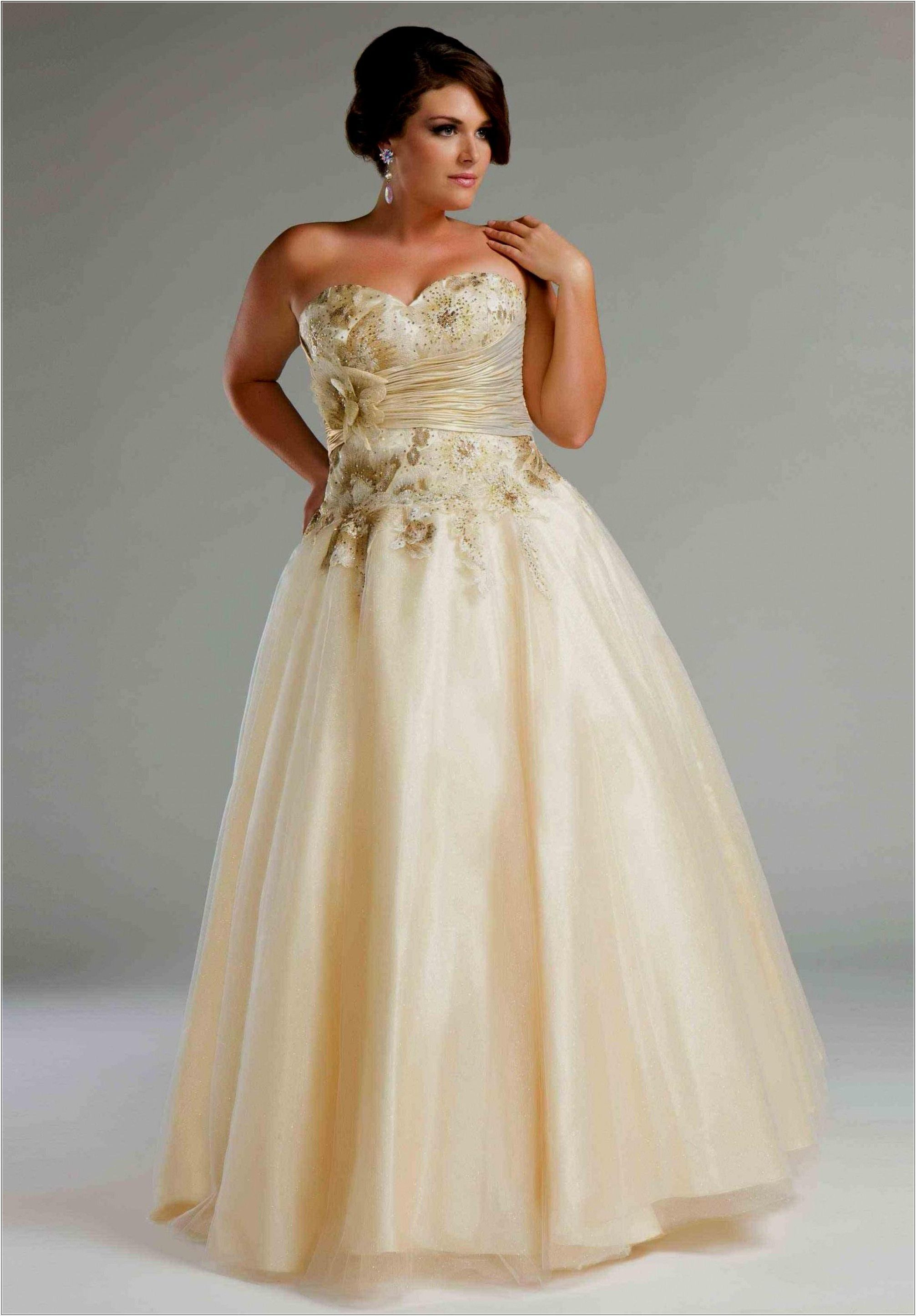 Plus Size Wedding Dresses Pix For Plus Size Gold Wedding Dresses