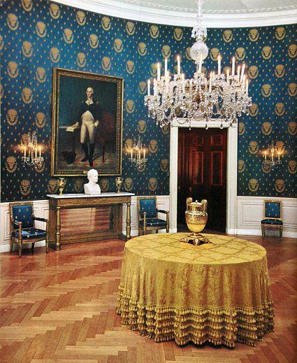 White House Blue Room : white, house, White, House, Museum, Interior,, Rooms,, Inside