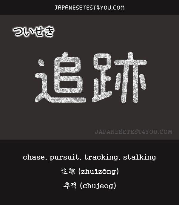 Learn JLPT N1 Vocabulary: 追跡 (tsuiseki)