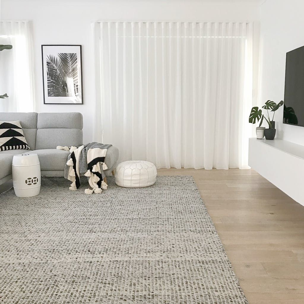 Lovely Photo From A Recent Customer Of Ours Featuring Our Carlos Felted Wool Flatweave Lounge Room Styling Rugs In Living Room Living Room Decor Apartment #wool #rugs #for #living #room