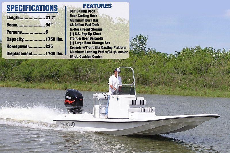 Gulf Coast Boats Shallow water bay boats, Texas Gulf
