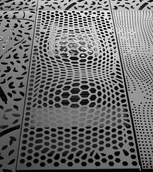 Hextractor Material Textures Metal Wall Decor Perforated Metal