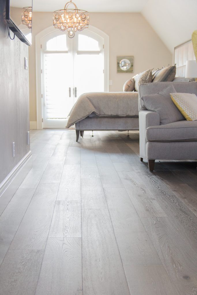 Light Gray Master Bedroom Hardwood Flooring House Flooring