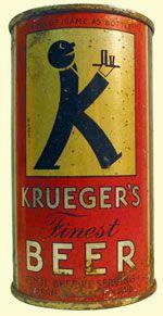 Krueger Beer • Em 1935 foi lançada nos Estados Unidos a primeira lata de cerveja do mundo, uma Krueger. Cilíndrica, como as latas de conserva de alimentos, precisava ser aberta com abridor de corte ou receber dois furos grandes para ser consumida. Atento à conveniência do consumidor, mais tarde o fabricante substituiu-a por uma lata com abertura tipo crown, como a das garrafas de vidro. saiba mais em:http://almanaque.blog.br/page/65/