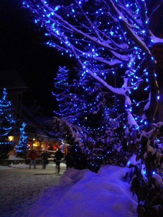 Love blue Christmas lights Christmas feeling Pinterest Blue