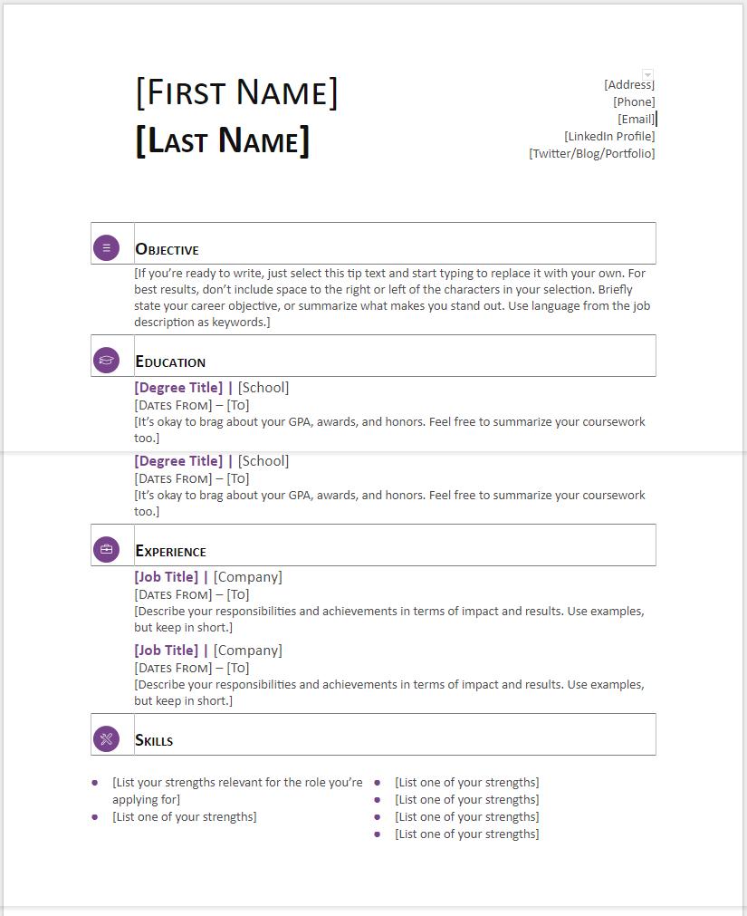 nuik noke Sample Resume Templates Google Docs in 2020