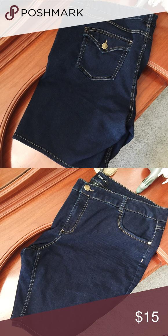 96cee84e6c2 Plus Size Denim Shorts - Dark Blue - 22W D. Jeans - Plus Size Denim Shorts  - Dark Blue - 22W d. jeans Shorts Jean Shorts