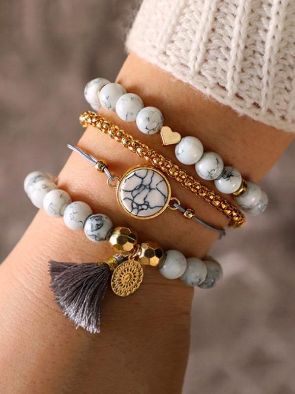 Fashion 4pcs Vintage Aolly Bracelets Accessories