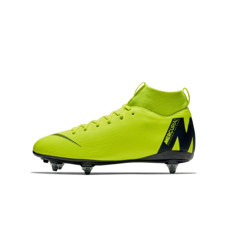 competitive price cf0a2 03614 Nike Jr. Mercurial Superfly VI Academy Younger Older Kids SG-PRO  Soft-Ground Football Boot - Yellow