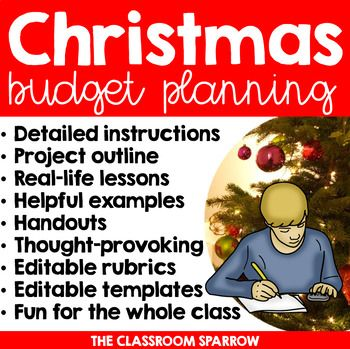 Christmas Math Project Personal Finance, Budgeting, and Holiday - business finance spreadsheet template