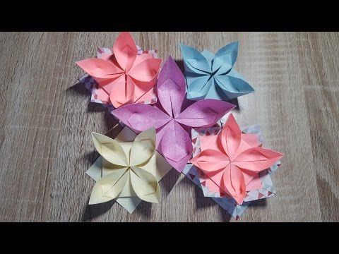 einfache origami blume falten wasserlilie how to make an origami water lily youtube origami. Black Bedroom Furniture Sets. Home Design Ideas