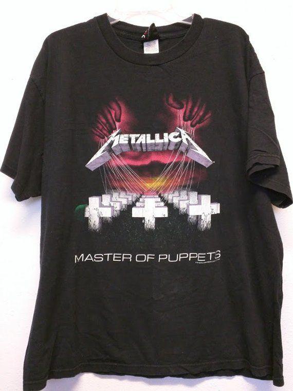0011acfc4 Metallica t-shirt Master of Puppets Vintage Headbanger Ride the Lightning  original band shirt metal