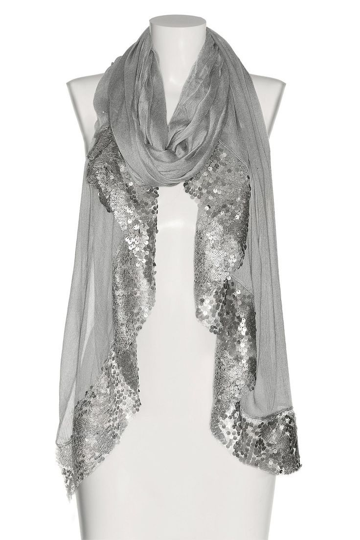 Dress up any look, day or night, with this sexy silver scarf! www.ballbracelets.com #accessory #fashion #bracelets #jewelry #trend #sexy #girl #scarf